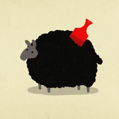 """""""Do not look on his appearance or on the height of his stature. For the Lord sees not as man sees: man looks on the outward appearance, BUT THE LORD LOOKS ON THE HEART,"""" 1 Samuel Graphic Design Art, Graphic Design Illustration, Illustration Art, Baa Baa Black, Growing Out Short Hair Styles, Funny Sheep, Knitting Humor, Lord Is My Shepherd, Counting Sheep"""