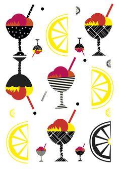 By Sofia Langenskiöld. Illustration inspired by Marimekko. Marimekko, Geometric Shapes, The Past, Inspired, Illustration, Cards, Inspiration, Design, Biblical Inspiration