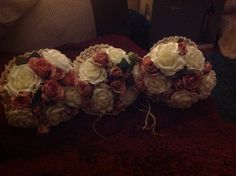 Bridesmaid bouquets made by Sheryl