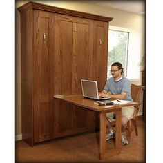 The Bedder Way Co. - a Murphy bed with a table!  Great idea!!!  Now, if I can talk Raymond into building one for me.