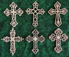 celtic cross scroll saw patterns free | Cross Ornaments