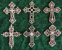 celtic cross scroll saw patterns free | Cross Ornaments