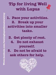 Tips for living well with lupus Lupus Facts, Lupus Awareness, Ehlers Danlos Syndrome, Thyroid Problems, Tough Day, Crohns, Invisible Illness, Tips Belleza, Autoimmune Disease