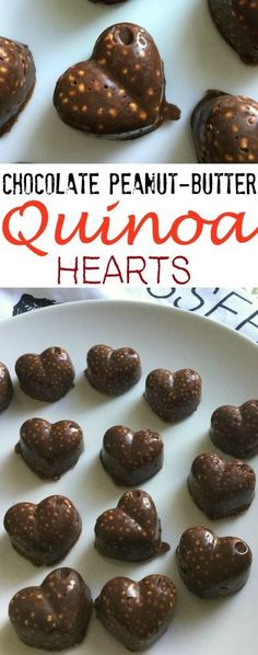 Peanut Butter-Chocolate Quinoa Hearts- These take less than an hour to make and are so easy!   - Make the best of everything