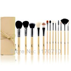 FREE SHIPPING! Best Quality Goat Hair Professional Makeup Brush Set 13PCS/Set Including a Deluxe Leather Bag! #Affiliate