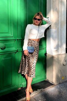 Realisation leopard skirt