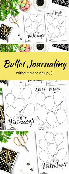 These are so easy to use. Each month I just put a birthday bullet journal sticker right next to my monthly. I haven't forgotten a birthday yet! Easy peasy pretty bullet journaling! #bulletjournaling #affiliatelink #journaling #handlettering #bujo