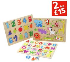 Buy Chad Valley PlaySmart 3 Pack Wooden Puzzles at Argos.co.uk, visit Argos.co.uk to shop online for Wooden toys, Baby and pre-school toys, Toys