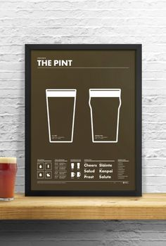 Field Guide to the Pint - Art Poster