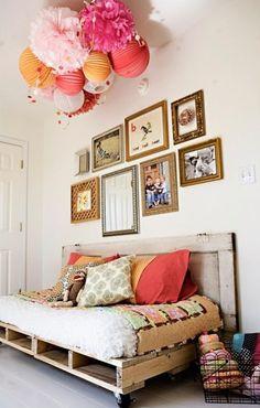 Pallets na decoração. Vai ver outras opções no Blog Midá.