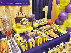 This was fun! A way to celebrate a boys' first birthday. From a table full of sweets and treats, popcorn, hotdog and snow cone machines! Basketball Birthday Parties, Birthday Themes For Boys, Baby Boy Birthday, 1st Boy Birthday, Basketball Party Favors, Birthday Party Treats, Themed Birthday Cakes, Space Jam Theme, Baby Shower Cakes