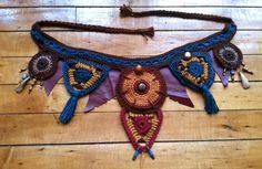 Tribales de venta crochet cinturón de utilidad / bolsillo