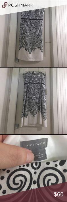 Black silk strapless dress