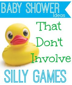 Fun baby shower ideas that don't involve   playing games