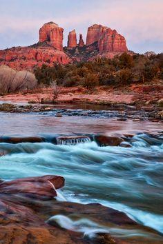 Sedona Twilight. Red Rock Crossing in Sedona, Arizona.