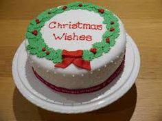 Image result for christmas cakes with buttercream icing