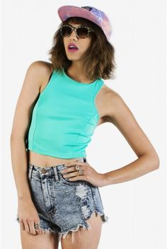 Insiders Deal Crop Top - Teal