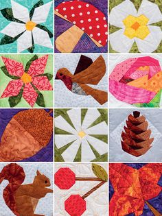Quilt blocks from A Paper-Pieced Garden