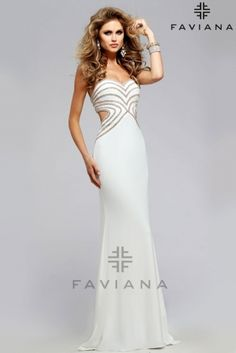 LOVE THIS #Faviana style S7701! I'd wear it in navy or white for sure! @FavianaNY