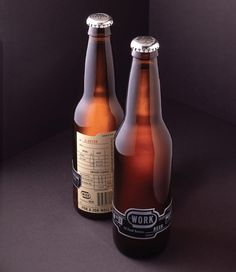 Work #beer  very simple label - super different.  Like a beer to drink when filing.