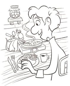 Billedresultat for Ratatouille Coloring Pages Free Disney Coloring Pages, Printable Flower Coloring Pages, Coloring Book Pages, Disney Art, Disney Pixar, Pikachu Coloring Page, Ratatouille Disney, Movie Crafts, Lego Friends