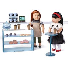 Pretty sure B is going to want this. Newberry(TM/MC) Pastry Shop And Accessories Ag Dolls, Girl Dolls, Newberry Dolls, Ag Doll Clothes, Pastry Shop, Top Toys, Toys Online, Doll Crafts, Toys For Girls