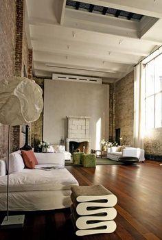 Marcus Nispel's SoHo Loft Living Room