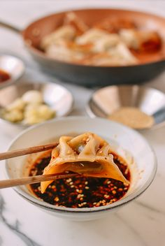 How to Make Dumpling Dipping Sauce The Perfect Dumpling Sauce Recipe – The Woks of Life Dumpling Dipping Sauce, Dumpling Recipe, Potsticker Dipping Sauce, Dipping Sauces, Sauce Recipes, Cooking Recipes, How To Make Dumplings, Asian Cooking, Asian Recipes