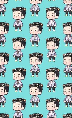 Exo Kokobop, Kpop Exo, Exo Kai, Suho, Ko Ko Bop, Exo Fan Art, Kim Minseok, Short Comics, Exo Memes