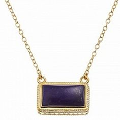 Anna Beck Small Rectangle Lapis Necklace