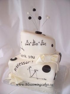 Math Topsy-Turvy Wedding Cake