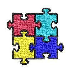 Autism Puzzle Machine Embroidery Design