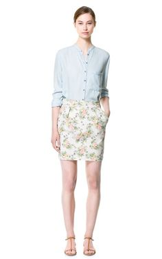 PRINTED SKIRT - Skirts - Woman | ZARA United States