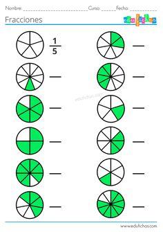 Math Fractions Worksheets, Math Quizzes, Learning Fractions, Math Practice Worksheets, Kindergarten Math Worksheets, Teaching Math, Fraction Activities, Math Formulas, 4th Grade Math