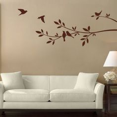 Tree Branch and Birds - Wall Decals Stickers