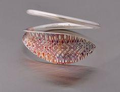 Bracelet, silver, mokume gane www.juhakoskela.com