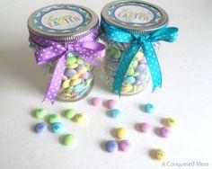 Diy easter mason jar gift a conquered mess easter simple gifts diy easy easter mason jar gifts super cute simple gifts diy negle Choice Image