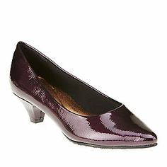 "Soft Style by Hush Puppies ""Alesia"" Pumps in Grape Patent"