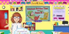 Junie B. Jones - interactive site with fun games for children.