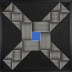 Artist: Omar Rayo, Colombian (1928 - 2010) Title: O.V.N.I. Year: 1967 Medium: Oil on Canvas, signed, titled and dated verso Size: 26 in. x 26 in. (66.04 cm x 66.04 cm)