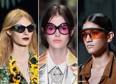 Spring/ Summer 2016 Eyewear Trends: Sunglasses with Colorful Lenses  #sunglasses #eyewear #trends