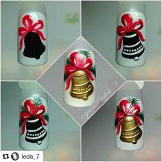 МК Nail Art Noel, Xmas Nail Art, Christmas Gel Nails, Christmas Nail Art Designs, Winter Nail Art, Winter Nail Designs, Gel Nail Art, Cool Nail Designs, Holiday Nails