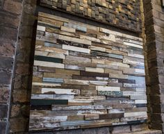 Reclaimed timber feature walls