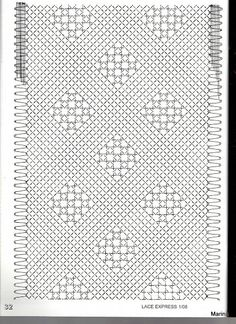 Risultati immagini per chal de bolillos patrones Bobbin Lace Patterns, Embroidery Patterns, Knitting Patterns, Scarf Patterns, Altar Cloth, Lacemaking, Lace Heart, Lace Jewelry, Diy Headband