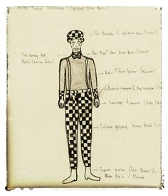 Costume pantomime. Bali fabric. Wanggi project. Sketch 4 #Beginner