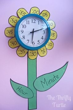 How to Teach Your Child to Read - Remind or teach your kids how to tell time by creating a clock like this in their bedroom (or classroom if youre a teacher) Give Your Child a Head Start, and.Pave the Way for a Bright, Successful Future. Teaching Time, Teaching Tools, Teaching Math, Teaching Strategies, Teaching Ideas, Primary Teaching, Primary Maths, Teaching Spanish, Math Classroom