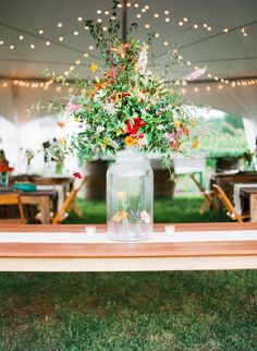 Large Centerpiece - with smaller #Posies within - very cool concept! | Photography: KatieStoops.com