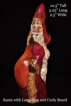 Cypress knee Santa Claus Original one of a kind by Louisiana artist, Geri G. Taylor