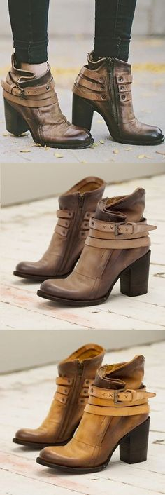 df25ff30e76  58.99 USD Sale! Free Shipping! Shop Now! Vintage Buckle Ankle Boots Chunky  Heel