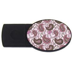 Paisley+in+Pink+1GB+USB+Flash+Drive+(Oval)+USB+Flash+Drive+Oval+(1+GB)